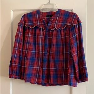 Madewell Ruffle Button-Down Top